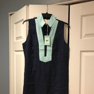 Sail to Sable-STS Dress (Navy/Turquoise)